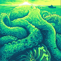Dan Mumford's stunning Soundgarden Octopus Print