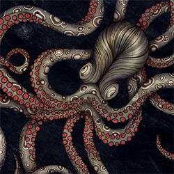 ZSO (Sara Blake)'s Octopus print is AMAZING ~ you have to see it in all its glory as well as on a skate deck! Wow.