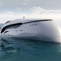 Oculus is a long distance luxury cruising yacht designed by Kevin Schöpfer with exterior  similiar to the jaw and eye socket bone structure of large oceanic fish.