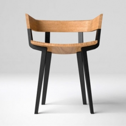 The Odin chair by Jamie McLellan for Odin Residences in Niseko Japan. The brief for the Odin chair was to fuse the simplicity of Scandinavian inspirations with the aesthetic sensitivity of Japanese culture.