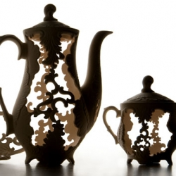 Spanish Lace tea set by Polish ceramicist Edyta Cieloch