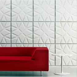 'Geo' by Ineke Hans for Offecct aesthetic acoustic panels can help create a pleasant indoor acoustic environment.