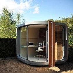OfficePOD is a home office away from home, a contemporary prefab office unit that'll keep household distractions at bay in style.