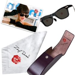 The new Zooey Deschanel Oliver Peoples sunglasses ~ come with a NAPKIN Cleaning Cloth ~ too cute