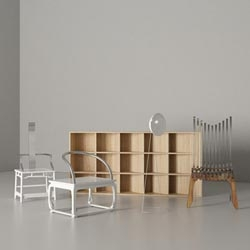 Fuquan Junze's collection of furniture under the name Oil Monkey is quiet but powerful.