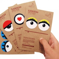 This summer Muji made Ojokeesus, The Eyes of The Perfect Suitcase. 20,000 stickers with eyes to customize bags into traveling companions. Four models: Minako, Takeshi, Kokoro and Aiko.