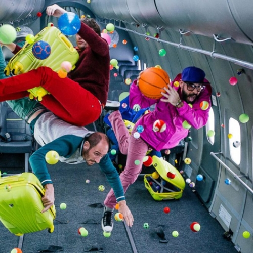 OK GO's Upside Down and Inside Out music video - shot in zero gravity!