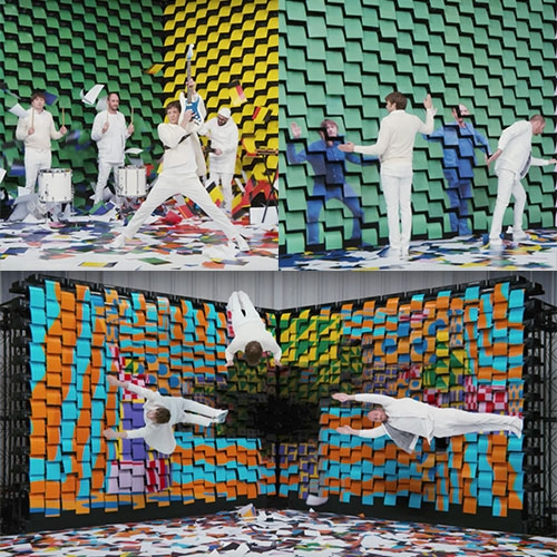 OK Go Obsession Video = 567 Printers and so so so much paper! By Damian Kulash, Jr. and Yusuke Tanaka.
