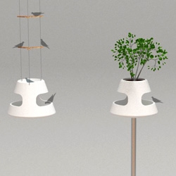 OKKO is as versatile as a birdfeeder can get coz it can either be hung from the ceiling in a balcony (if you have such luxury) or be placed on a post in the garden.