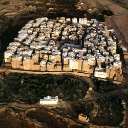 Shibam, a town in Hadramawt, Yemen, is considered to have the world's oldest skyscrapers.