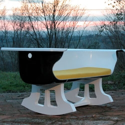 Crazy old bathtub turned into a chair by Frees Co