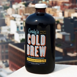 Grady's Cold Brew ~ these bottles of coffee concentrate with fun packaging are addictively delicious (and hard to keep in the fridge this week) ~ each bottle makes 8 cups of iced/hot coffee.