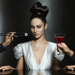 Campari has released their 2010 calendar featuring Ms. Bond herself, Olga Kurylenko.  The series ranges from bright and colorful to dark, almost film-noir-esque, with the constant flush of blood red throughout.