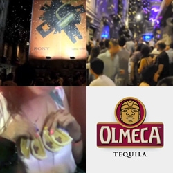 Guerrilla Stunt by Torke for Tequila Olmeca - in Istanbul - a rain of fake lemon slices over the nightlife areas of the city. The slices had a codes for prizes...