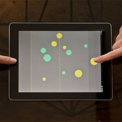 Olo is a 'two-player game of skill and strategy for touch devices'. Developed by London-based interactive design studio, Sennep.