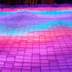 Jun Ga Young's 'Whistling Sea' at Kinectica Art Fair 2011 ~ check out the videos of this beautiful light installation in action