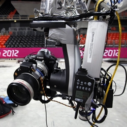 The Associated Press brings robotic cameras to the 2012 London Olympics. Developed by Fabrizio Bensch and Pawel Kopczynski the 11 high-tech rigs will enable all new shots from this years games.