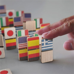 "Domino Effect ~ ""In our world everything is connected. This domino set brings this fact to your fingertips."" by Design for the 100 Percent."