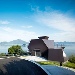 The recently opened Toyo Ito Architecture Museum on the island of Omishima.