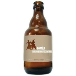lomza niepasteryzowane - Polish beer that comes with minimalistic eco style package.