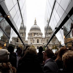 London has a new mall. Jean Nouvel's One New Change opened at St Paul's yesterday at noon.