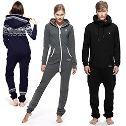 One Piece Onesies... the super cozy full body sweatpants/hoodie alternative? In regular/slim zip down the front, to the Joey that zips between the legs. Baby ones are adorable.