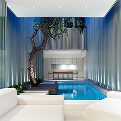 Ong & Ong renovated an art deco house in Singapore, creating a stunning new interior, complete with a pool.
