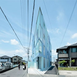 On the Corner, a beautiful apartment complex by EASTERN design office in Shiga, Japan.