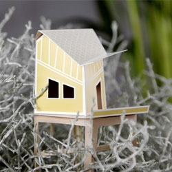 Cottage Town by Nathan Wierink and Tineke Beunders (Ontwerpduo) turns pots into a village.