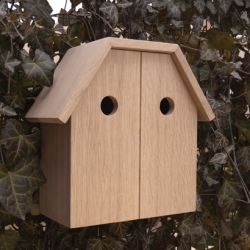 This double birdhouse by dutch designers from Ontwerp Duo is real human architecture for birds.