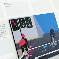 Jun Kwon's On Yer Bike, an information system for cyclists to find their way around cities with fresh thinking on what cycling in the city can offer.
