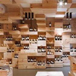 Swiss design firm OOS designed this gorgeous interior in the Albert Reichmuth wine store, Zurich.