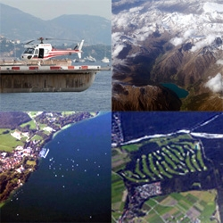 Operation Window Seat: Monaco - Nice - Munich. First section by helicopter! With video! And then a peek at the stunning alps, the lakes hidden within, the towns and golf courses... and some amazing sail boats!