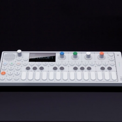 OP-1 stands for Operator 1 and is a pocket size controller for your software sequencer. Connect it to your laptop and it lets you control your sequencers transport with the common play, stop, rec, forward and rewind. By Swedish Teenage Engineering.