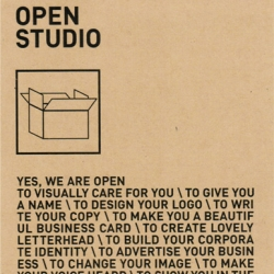 Open Studio is more than a little office for visual communication in Düsseldorf, Germany. Their attitude is overwhelming: open, friendly and professional.