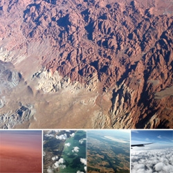 Operation Window Seat: LAX-CDG - in this edition we've got a lot of gorgeous red mountains ~ fires! ~ eerily red clouds ~ french seaside ~ and more! Such beautifully lighting on this trip!