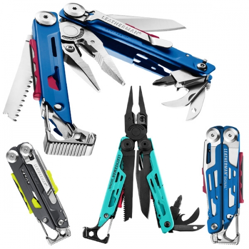 Leatherman Signal gets colorful! I can't stop seeing the Blue/Red/Silver ones as the Optimus Prime Edition and the Aqua/Red/Black as 90's Ski Edition... definitely a fun playful (nostalgic?) twist on the traditional though?