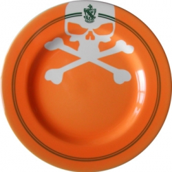Inspired by 2768  - sarah cihat's plates are so gorgeous were worthy of a second post!  this orange jolly roger plate is just stunning. As is the whole jolly roger line in particular.