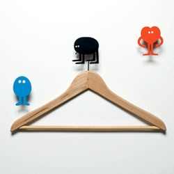 Oooooh there are also tri-colored sets of Genevieve Gauckler wall hooks for Domestic! 'Hang on to yourself'