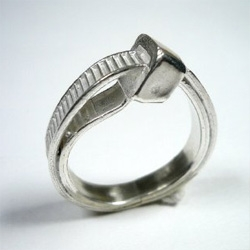 Zip tie rings cast in silver ~ is it geek chic? or is it just another reference to what has become such an everyday object?