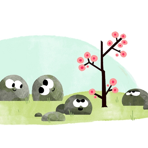 Happy First Day of Spring Google Doodles are adorable animations! There's one for the northern hemisphere and one for the southern hemisphere!