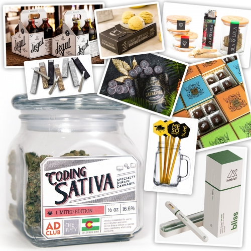 A growing list of Cannabis Packaging and Branding that caught our eye... There's far more than expected! From canisters and pre-rolls, to honey sticks, gourmet chocolates, elegant vape pens and more...