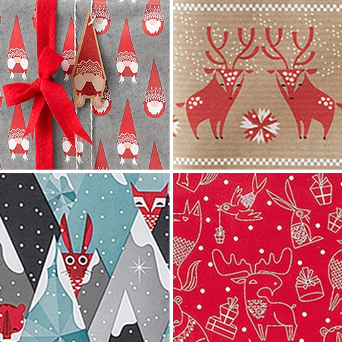 IKEA Vinter 2017 Gift Wrapping has great patterns from super fun gnome/elf/santa folks to adorable woodland creatures! (Even though it feels too early for the holidays, it made me smile!)