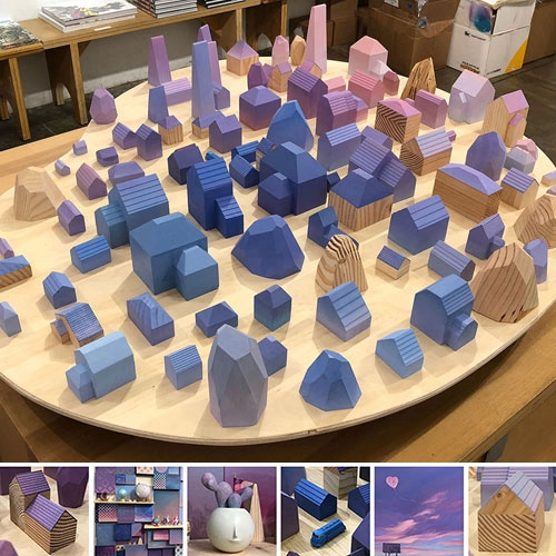 Yoskay Yamamoto's Homebound show at Giant Robot! Stunning in person, the pictures barely do it justice. My favorites are the brightly colored houses filled with so many possibilities! (I'm itching to make minis of our houses now!)