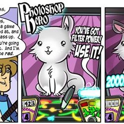 The boys of Penny Arcade bring us PHOTOSHOP HERO! You know you'd rule that game...