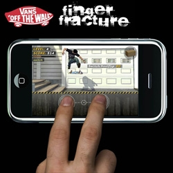 Can you imagine if this Vans iPhone Finger Fracture game got made? You could pull some pretty crazy skateboarding tricks with two fingers and your multitouch iphone!