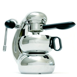 Otto Espresso ~ gorgeous new twist on a classic stovetop espresso maker design... supposedly makes two perfect lattes!