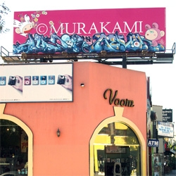 Oh, Murakami. He's stolen his own billboard off of Melrose and had it sent back to japan, b/c he loved the street art from Auger/Revok once he saw it on the internet.