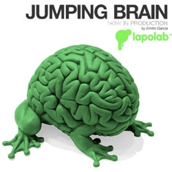 Jumping Brain ~ new line of toys from Emilio Garcia by Lapoland ~ and check out the pics, the hemispheres can even be separated!
