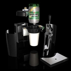 Beertender ~ a collaboration between Krups and Heineken to keep your mini keg ready for 30 days of  perfect draught beer at your fingertips.